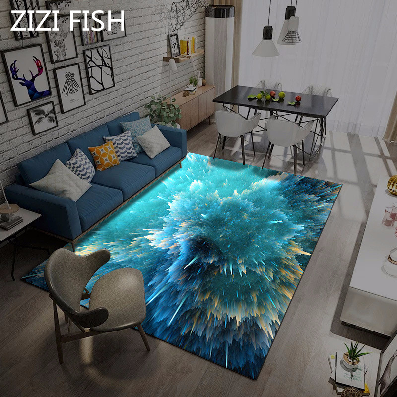 3D Star motif tapis ménage salon étude chambre chambre enfants chevet tapis tapis pour salon zone tapis