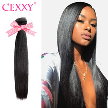 Cexxy straight Hair Bundles 7A Virgin Hair Weave bundle 1 3 4 PCS Peruvian Human Hair Extension Free Shipping(China)