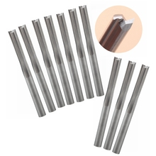 10pcs 3.175x17mm 2 Straight Flute Tools, Solid Carbide Milling Cutters, CNC Cutting Carving Bits on MDF, Wood, Foam, Acryl