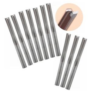Image 1 - 10pcs 3.175x17mm 2 스트레이트 플루트 도구, 단단한 초경 밀링 커터, mdf, 목재, 거품, 아크릴에 cnc 절단 조각 비트