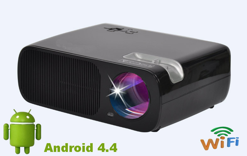 OLEY BL 20 Android 4.4 Video LCD LED Projector Home Theater HDMI Projector 800x480 3000 Lumen Projector With USB/HDMI/ATV/AV/VGA