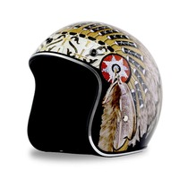 Fashion retro Harley Helmets 3/4 Motorcycle Chopper Bike helmet open face vintage motorcycle helmet
