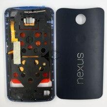 For Motorola Google Nexus 6 XT1103 XT1100 Original Black/White Middle Frame Bezel+ Battery Door Back Housing Assembly