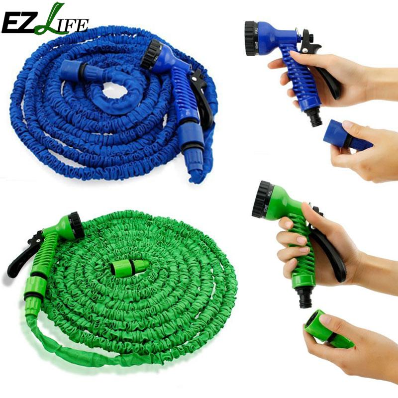 EZLIFE Garden Watering Lirrigation Hose Water Pipes Expandable Flexible Car Hose  25/50/75/100 FT JK1191