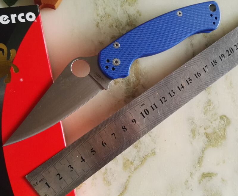 Hot selling C81 58HRC CPM S30V blade multicolor G10 handle 4 colors camping survival folding font