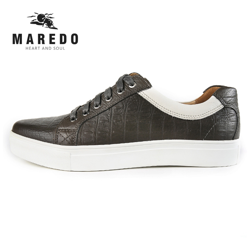 MAREDO summer men casual shoes leather shoes Breathable  male  shoes sports shoes 2017 new spring imported leather men s shoes white eather shoes breathable sneaker fashion men casual shoes