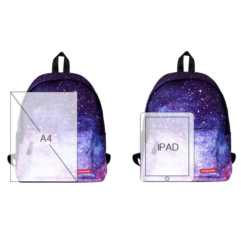 mochila escolar bolsa estrelas universo Size : 40cm*30cm*5cm