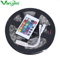 5050 5M Waterproof RGB LED Flexible Strip 300LEDs 24Key IR Remote Controller Free Shipping