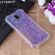 LUCKBUY Liquid Glitter Sand Star Phone Cases For Samsung Galaxy J310 J510 J710 J330 J530 J730 EU Version Heart Dynamic Back Case