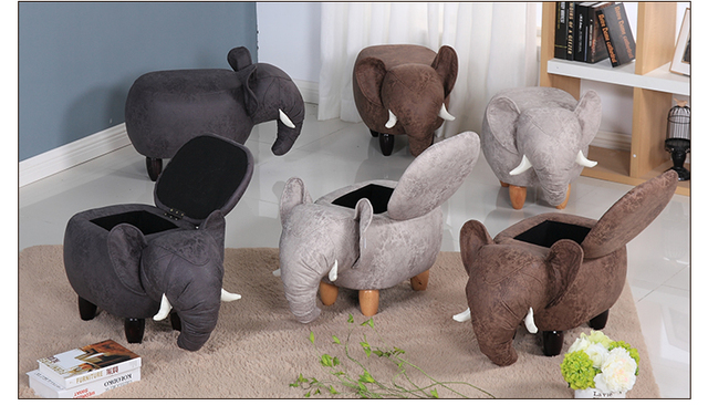 2018 New Product Cute Animal Stool Elephant Ottoman Small
