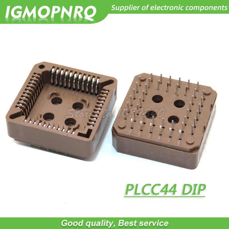 Adaptador de tomada plcc ic plcc32, adaptador de tomada plcc44 smd dip, 32/44 pinos plcc, soquete igmopnrq, com 10 peças