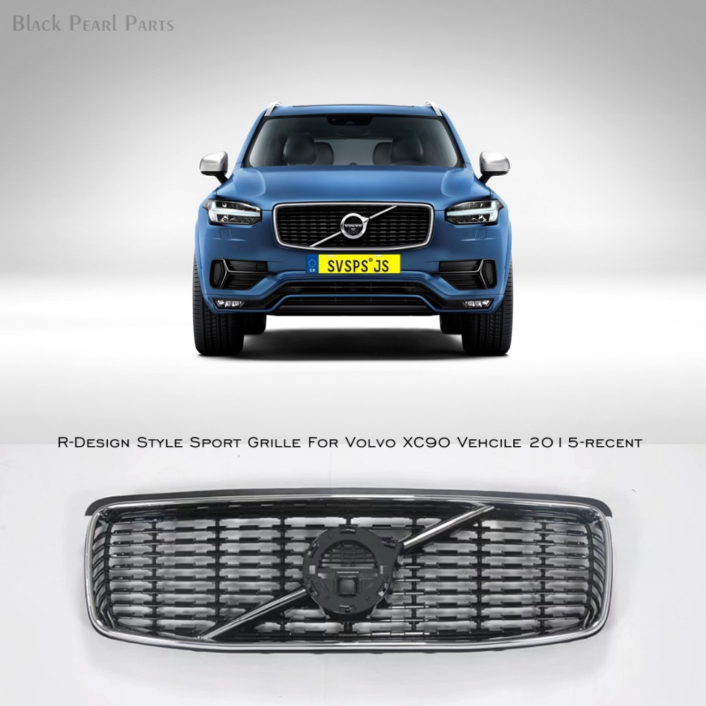 Car styling tuning front middle grille for volvo xc90 vehicle