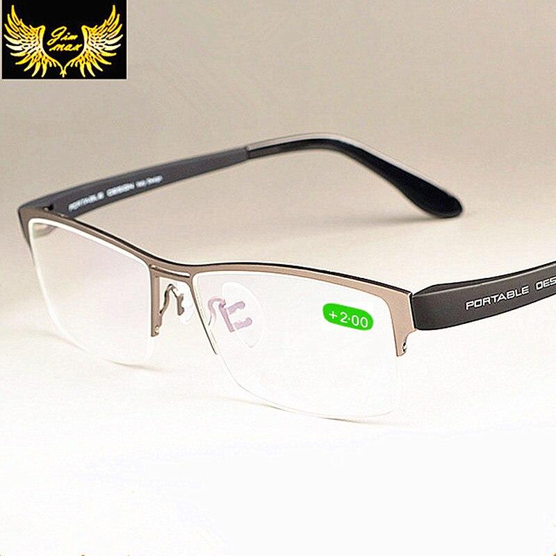 Men Style Quality Pure Titanium Alloy Reading Glasses New Arrival Fashion Square Half Rim Classic Presbyopia Glasses for Men