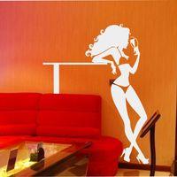 セクシーな女の子美容ボディ取り外し可能な壁のステッカー女性裸の女の子ホーム装飾人間壁デカールktvパブバーショップステッカ