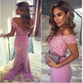 2017 Elegant Mermaid Cap Sleeve Bridesmaid Dresses With Sexy Backless Beautiful Bridal Gown Women Formal Dress Party Gowns
