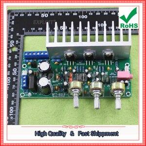 Image 4 - Tda2050 + tda2030 2.1 three channel/way módulo subwoofer placa amplificador terminado pé 60 w 0.6 kg