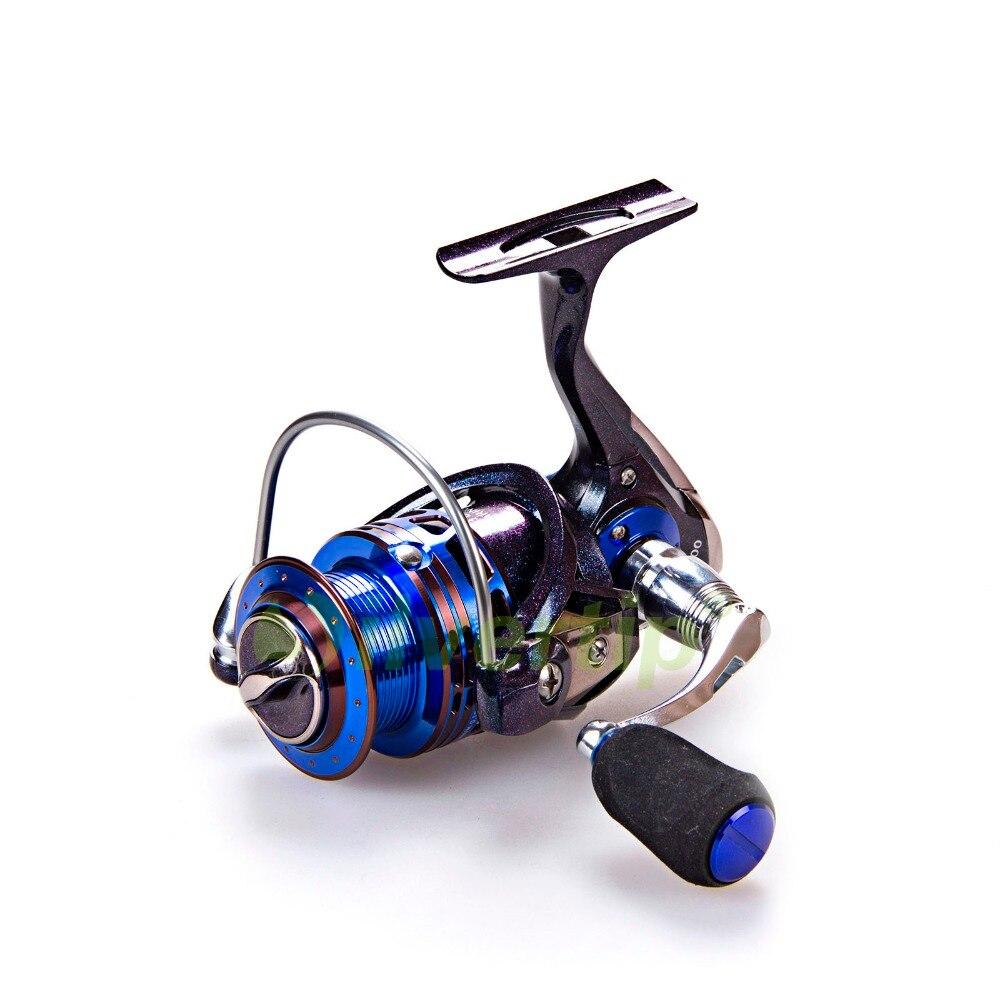 Free Shipping 13+1 BB Spinning Fishing Reel Metal Foot Handle Chameleon Paint Reels YUMOSHI AS