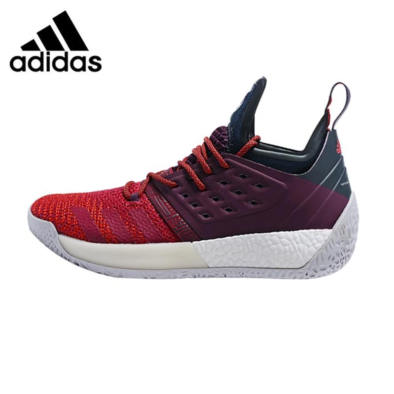 Adidas Indurire Vol.2 Uomini Scarpe Da Basket, rosso e Viola, Shock Assorbente resistente Leggero E Traspirante AH2124