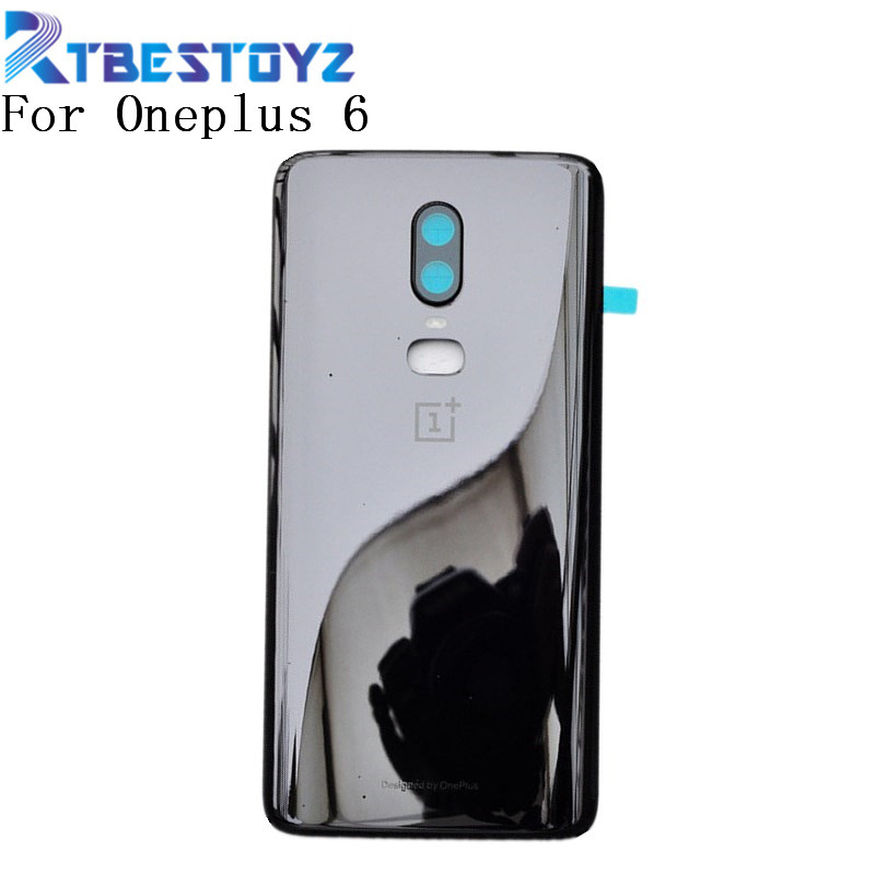 Original 3D Glass For Oneplus 6 Six Battery Door Case Back Cover Rear Phone Housing Case For One Plus 6 Replacement Parts