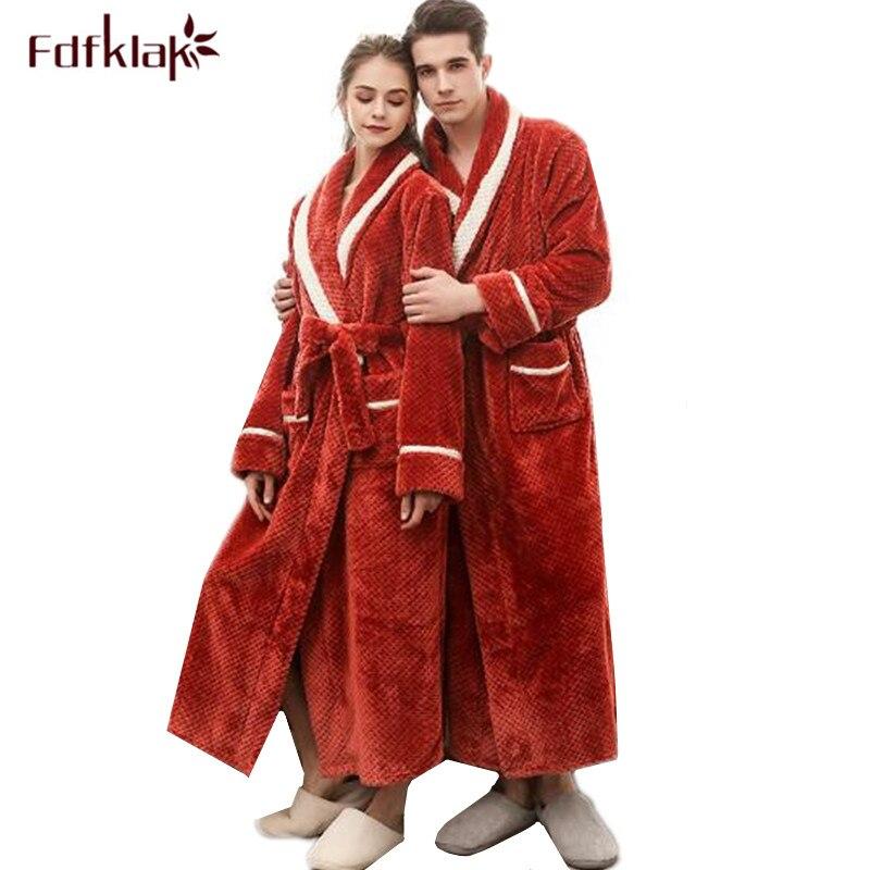 be15e0b4e66481 Fdfklak do Casal robe robe de flanela roupão de banho das mulheres inverno  quente grossa longo robes roupões pijamas femininos das mulheres roupa em  ...