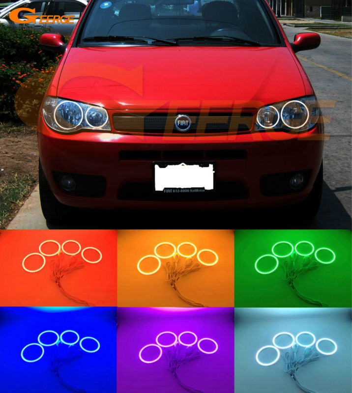 For fiat siena 2004 2005 2006 2007 Excellent Multi-Color Ultra bright RGB led Angel Eyes kit Halo Rings for acura tsx cl9 2004 2005 2006 2007 2008 excellent multi color ultra bright rgb led angel eyes kit halo rings
