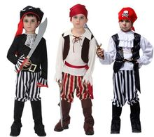Children Piracy Costumes Cosplay Dance Boys And Girls Pirates Caribbean Captain Clothes Set  Kids Halloween Pirate Costume irek new halloween costume renaissance pirates caribbean men luxury crooks cyclops captain cosplay costume factory direct