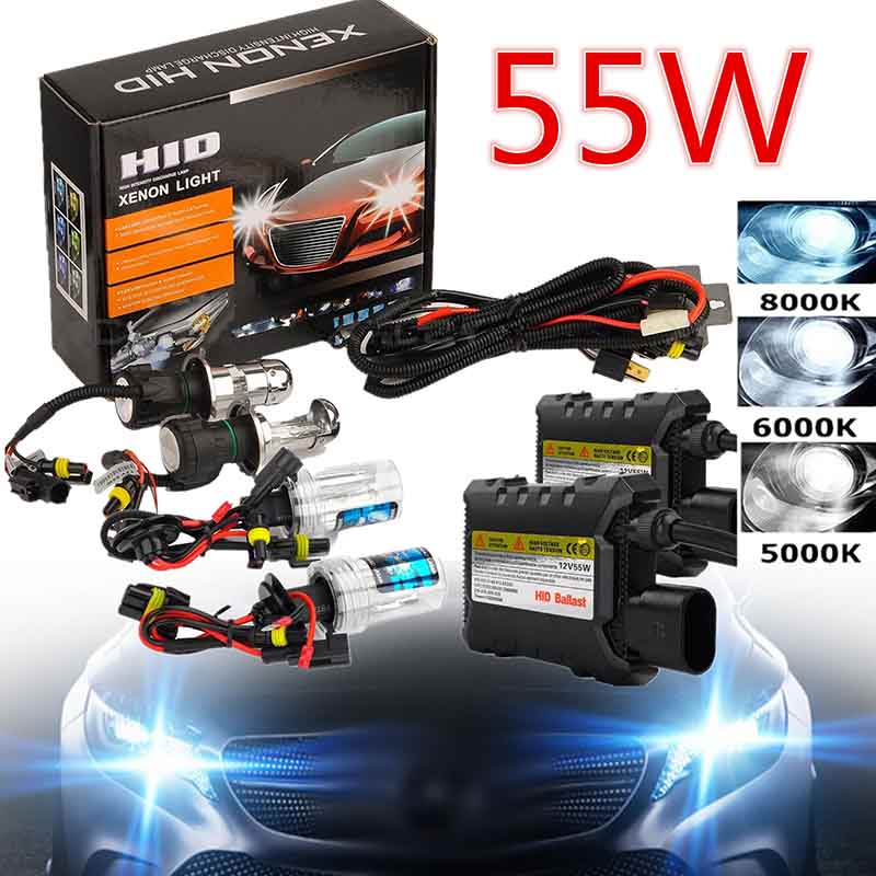 1set High Quality HID Xenon Bulb 55W H4-3 Xenon Headlight With Ballast Conversion Kit Dual Beam 8000K Bulb for Car Light Source 55w hid bulb ballast xenon kit 12v dc car conversion headlight head light 3000k 15000k for genesis coupe 2013 free shipping