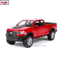 Maisto 1:24 2017 Chevrolet Colorado alloy super toy car model For with Steering wheel control front wheel steering toy car цена 2017