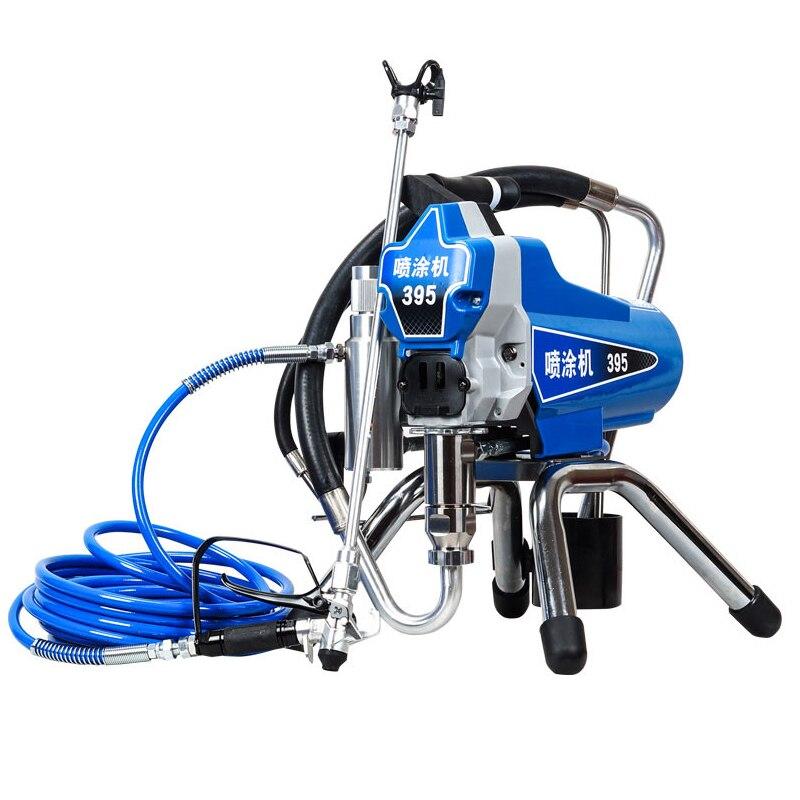 Profesional Máquina de Pintura Elétrica Pulverizador Pintura Airless PISTÃO 390 395 com motor de 2200W fábrica venda diretamente