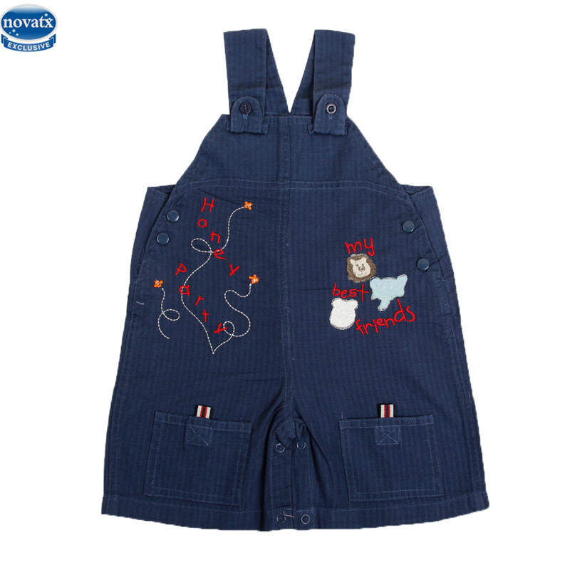 novatx L8679 2017 new kids summer unisex children clotheswith pocket embriodery letter pattern overalls suspender trousers