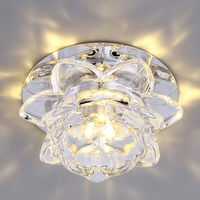 High Quality Modern Flower Crystal Ceiling Lamp 3W 5W LED Corridor Light Hallway Lamps Bedroom Living