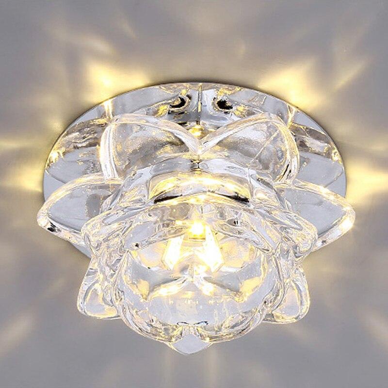 Hochwertige Moderne Blume Kristall Deckenleuchte 3 Watt 5 FHRTE Flurlicht Flur Lampen Schlafzimmer Wohnzimmer Lichter Leuc