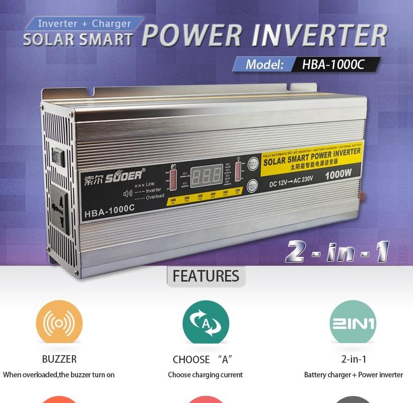 UPS /& Battery Charger POWER INVERTER DC12V-AC110V SOFT START Peak 1000W 2000W