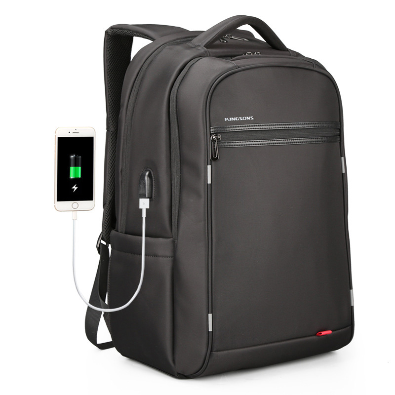 Kingsons 17 Inch Laptop Backpack Men Mini USB Charging Anti Theft Computer Bagpack for Teenager Boys Travel Packingbag Back Pack 2018new backpack women casual anti theft bagpack 17 inches laptop backpack for teenager boys usb charging travel large back bag
