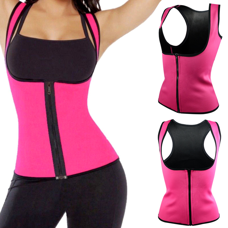 Yoga/Running Vest New Women Neoprene Body Shaper Slimming Waist Slim Belt Underbust Plus Size XXXL Black