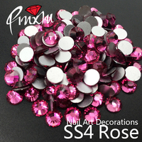 Wholesale SS4 1 5mm 1 6mm Rose Flatback Crystal Rhinestones Non Hotfix 1440pcs 3D Use For