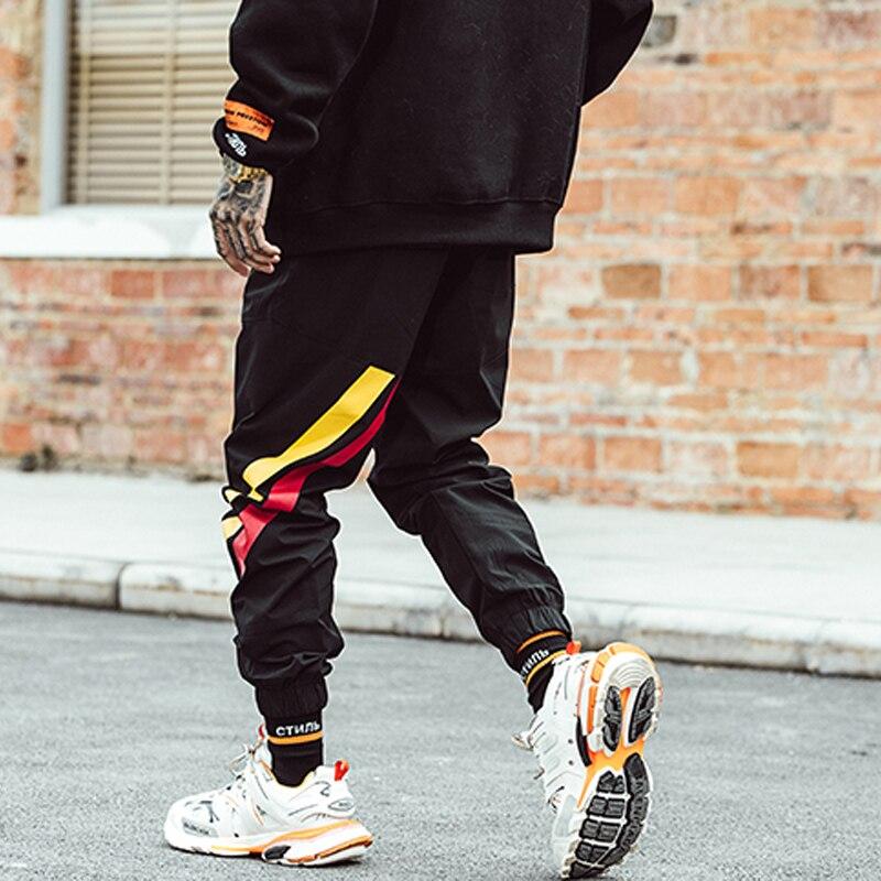Hop Chándal Streetwear K025 Hombre Casual Bumpybeast De Joggers La Hip Hombres Bolsillos Ropa Marca Stretch Pantalones Negro xx7qwnBZ0