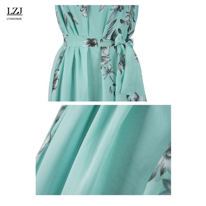 【】LZJ 2017 Vintage Floral Print Summer Long Maxi Dress Off ...