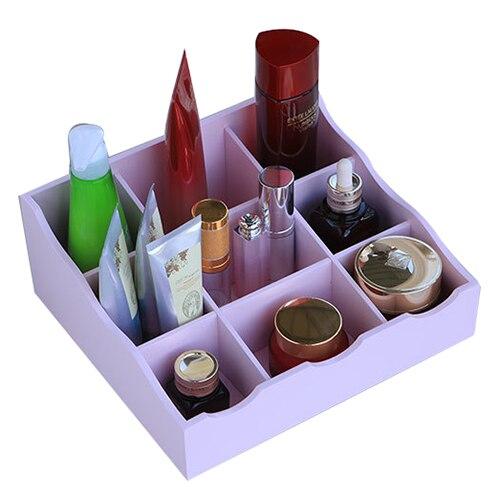 Mizhi 1 деревянный Творческий Главная 9 сетки Настольный комод по уходу за кожей Отделочные Box Косметика Коробка для хранения 26*23*11 см
