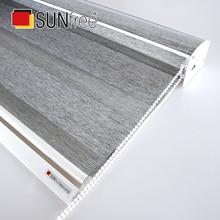 Высокое качество новая плотная ткань Зебра жалюзи полный оттенок день ночь жалюзи большой балдахин системы рулонные шторы кровать гостиная