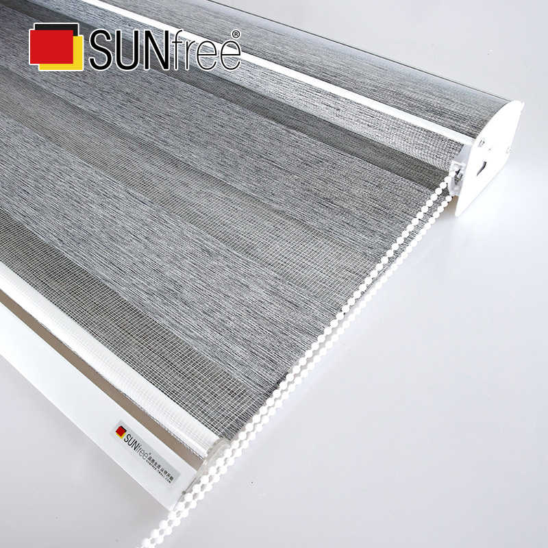 High Quality New Thick Fabric zebra blinds full Shade Day night blinds Big Valance system Roller Blinds Bed Living room