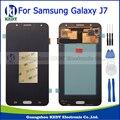 Grade aaa para samsung galaxy j7 2015 j700 j700f j700h j700m conjunto completo display lcd touch screen digitador de vidro + ferramentas