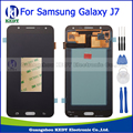 Grado aaa para samsung galaxy j7 2015 j700 j700f j700h j700m pantalla lcd pantalla táctil de cristal digitalizador asamblea + herramientas completa