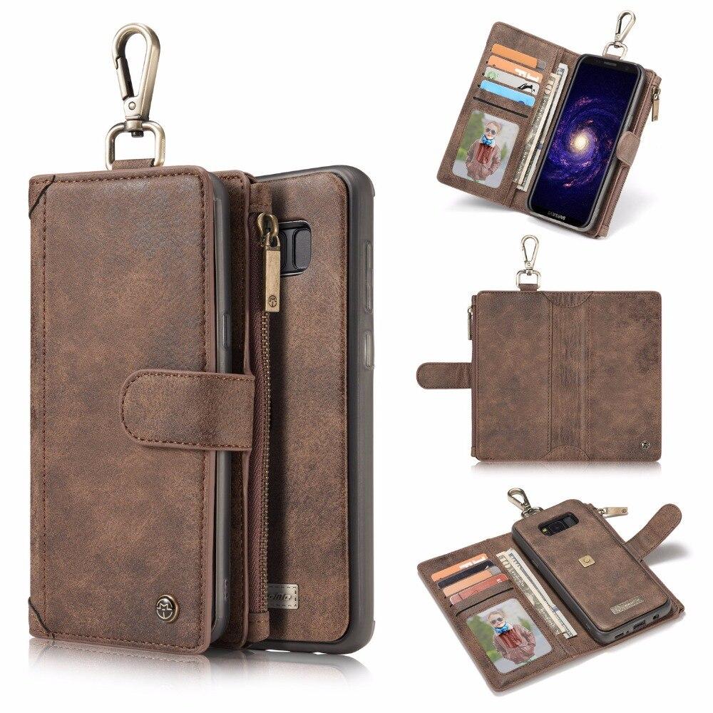 Для Samsung S8 плюс чехол бумажник металлической пряжкой Чехол Съемный на молнии Пояса из натуральной кожи чехол для Samsung Galaxy S8 плюс