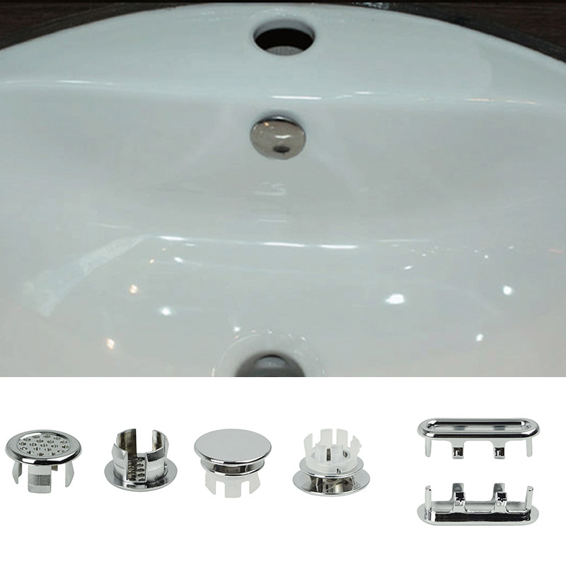 1PC Chrome Trim Overflow Ring Plastic Overflow Spare Cover Bathroom Supplies Ceramic Basin Spilled Water Ring Sink Round Ring