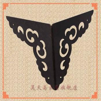 [Haotian vegetarian] antique copper wrap angle / corner piece / antique furniture, brass fittings 8cm / HTG-067