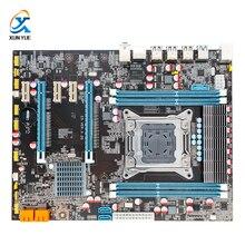 100% OEM New X79 E5 3.2G Desktop Motherboard X79 LGA 2011 For I7 E5-V1 E5-V2 DDR3/ECC 64G 2*PCI-E SATA3 USB3.0 All-Solid ATX