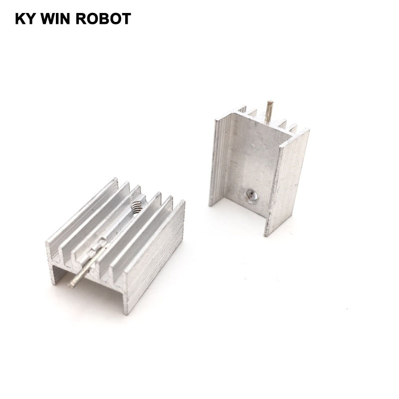 10pcs Free Shipping Aluminium TO-220 Heatsink TO 220 Heat Sink Transistor Radiator TO220 Cooler Cooling 20*15*10MM With 1 Pin