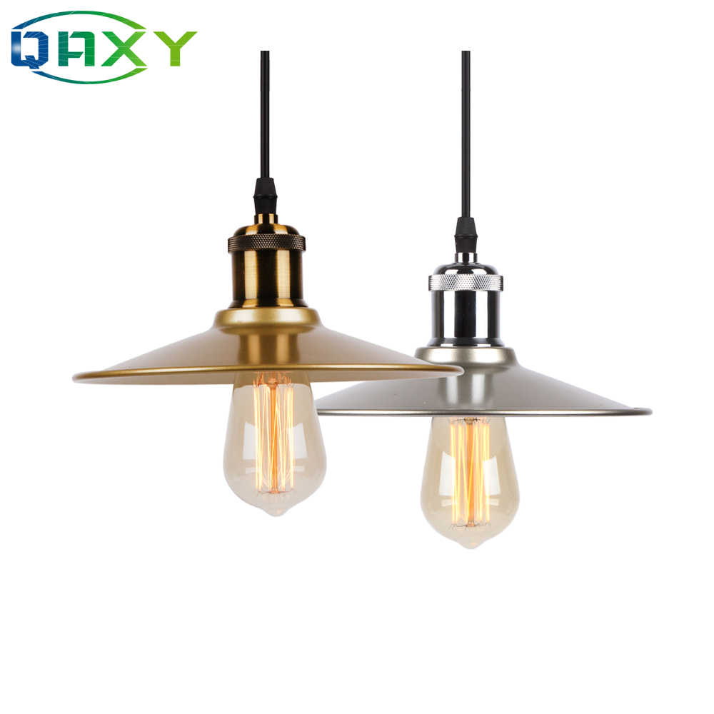 2019 Novelty Gold&Silver Pendant Lamp Goes With Vintage Edison Bulb ST64 E27 Black&White Living Room/Bar Hanging Lights[D5605]