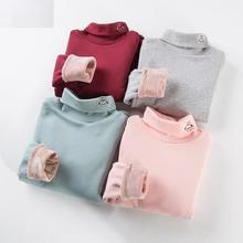 Новая хлопковая детская теплая футболка для От 3 до 10 лет водолазка Дети  футболки с длинным 8ed582dacaf51